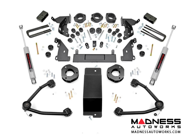 "Chevy Silverado 1500 4WD Combo Lift Kit w/ Upper Control Arms - 4.75"" Lift - Cast Steel"